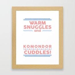 Komondor Ugly Christmas Sweaters Framed Art Print