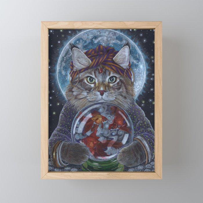 Fortune Teller Cat Framed Mini Art Print