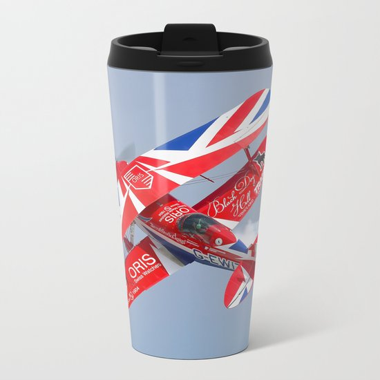 Stunt plane Metal Travel Mug