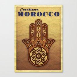 Morocco Postcard Canvas Print