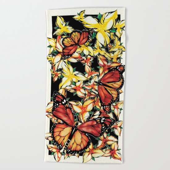 Resting Monarchs Beach Towel