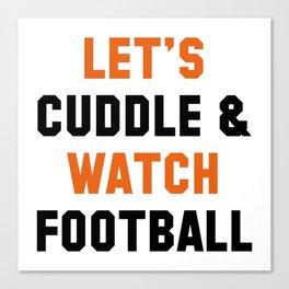 Cuddle Football Canvas Print