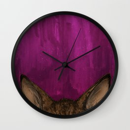 Tiger Tabby Kitty Ears Wall Clock