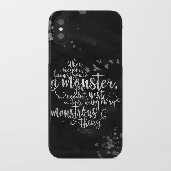 Six of Crows - Monster - Black iPhone Case