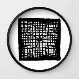 black and white screen Wall Clock