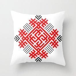 Rodimich - Antlers - Slavic Symbol #1 Throw Pillow