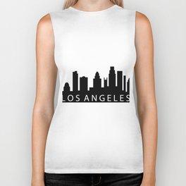 Los Angeles skyline Biker Tank