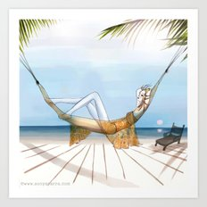 Chill, Relax, it's Summertime!! Art Print