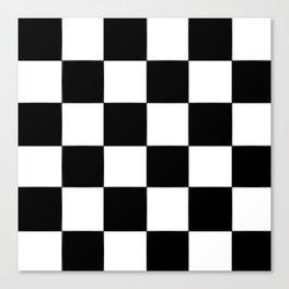 Checkerboard (LF) - (Collection Black & White) Canvas Print