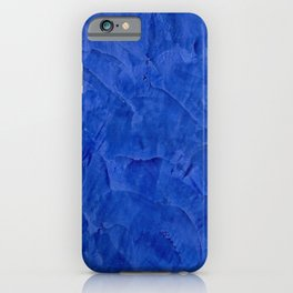 Dark Classic Blue Ombre Burnished Stucco - Faux Finishes - Venetian Plaster - Corbin Henry iPhone Case