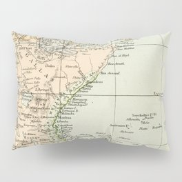 North East Africa Vintage Map Pillow Sham