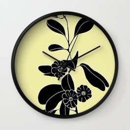 Goat's Foot (also known as Mauve Convolvulus, Beach Potato Vine, and Morning Glory) - Ipomoea pes-ca Wall Clock