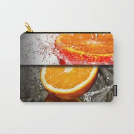 Oranges Splashing in Water Abstract Design Carry-All Pouch