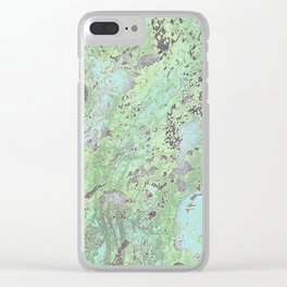 Moon Of Turq Clear iPhone Case