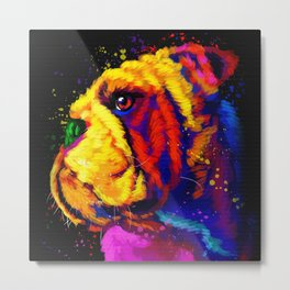 Bulldog Matte Canvas Print, Canvas Wall Art for Living Room, Bathroom Wall Decor, Water Color  Metal Print