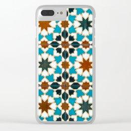 Moorish tiles Clear iPhone Case