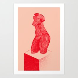 Red Venus Art Print