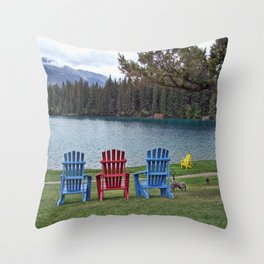 Three Chairs Throw Pillow
