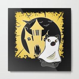 Ghost Or Cat? Metal Print