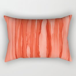 #027 - Monochrome Ink in Orange Rectangular Pillow