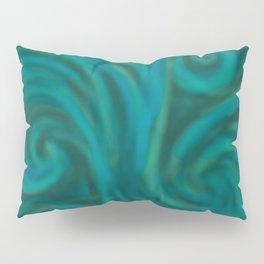 teal swirl Pillow Sham