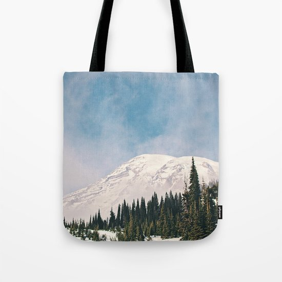 Mount Rainier in the Winter Tote Bag