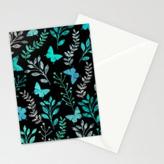 Watercolor flowers & butterflies IV Stationery Cards