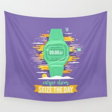 Carpe Diem - Seize the Day [green] Wall Tapestry