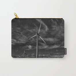 Wind Turbines #moody #blackwhite Carry-All Pouch