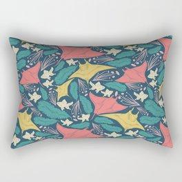 Manta Ray And Fish Pattern Rectangular Pillow