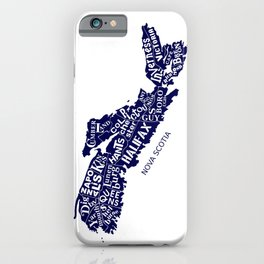 Nova Scotia Map iPhone Case