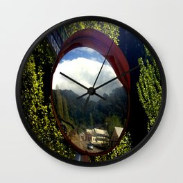 A town inside a Bubble Wall Clock