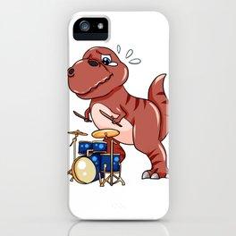 Drumming Dinosaur Dino Dumset Drumstick Present iPhone Case