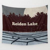 fringe Wall Tapestries featuring Reiden Lake (Fringe) by avoid peril