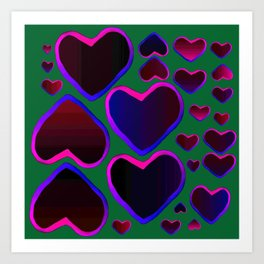 Heart in the countryside Art Print