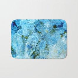 Blue Crystal Geode Art Bath Mat