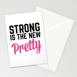 Strong Is the New Pretty Gym Quote Stationery Cards