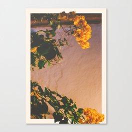Flores Amarillas Canvas Print