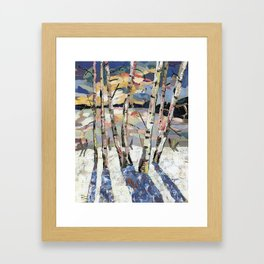 Birches in witnter Framed Art Print