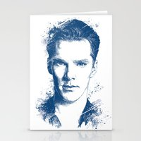 benedict cumberbatch Stationery Cards featuring Benedict Cumberbatch by Chadlonius