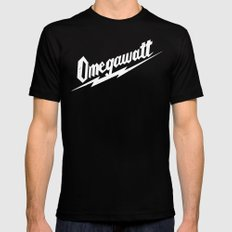 Omegawatt Black LARGE Mens Fitted Tee