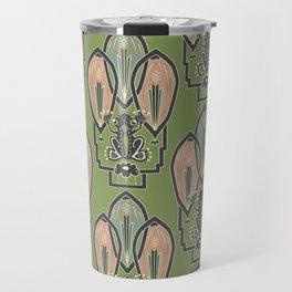 Art Deco Frog Travel Mug
