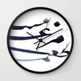Poetic Traces Wall Clock