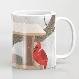 Cardinals at bird feeder Coffee Mug