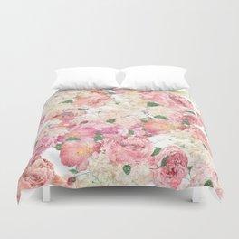 Flowers, Floral Explosion, Floral Pattern, Pink Flowers Duvet Cover