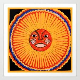 The sun Huichol art Art Print