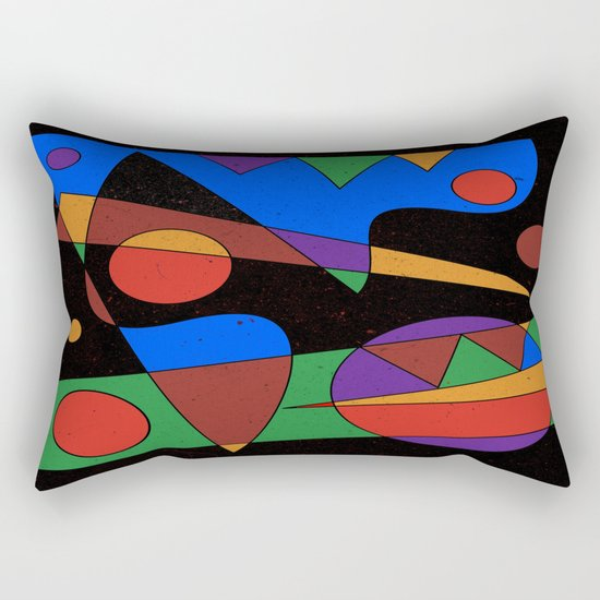 Abstract #105 Rectangular Pillow