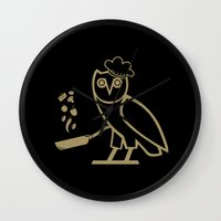 chef Wall Clocks featuring The Chef by October's Very Own