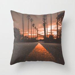 Road at Sunset Throw Pillow