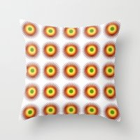 techno Throw Pillows featuring techno abstract by laika in cosmos